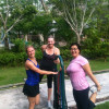 The ladies of Lantau having a stretch after a tough bootcamp session